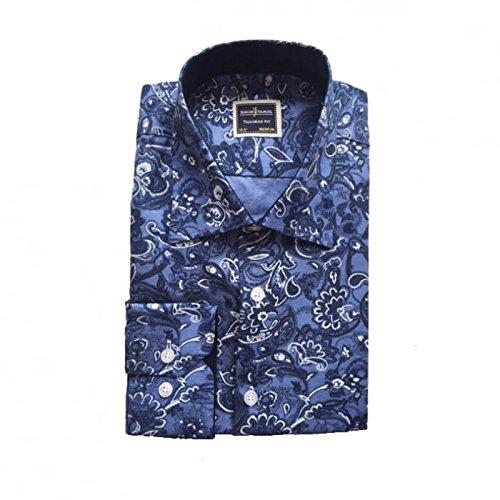Jenson Samuel Shirts -  Camicia da cerimonia  - Uomo Blue Floral Paisley - FF4