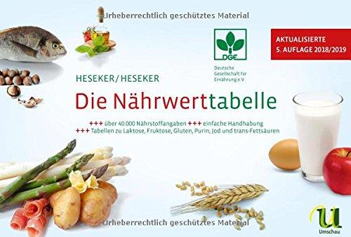 Die Nährwerttabelle 2018/2019, 5. Auflage (5 Lebensmittel)