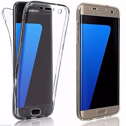TPU Full Body 360 ° Transparent Cover Samsung Galaxy S7 Edge Hülle Case Beidseitig Schale Vorderseite + Rückseite Handy Tasche Schutz Etui Bumper von Vada-Tec