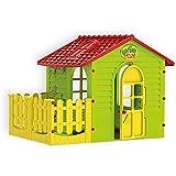 Moch Toys 5907442108392Casa de juguete para interior y exterior con valla, Jardín Hogar Niño, parte dispositivo