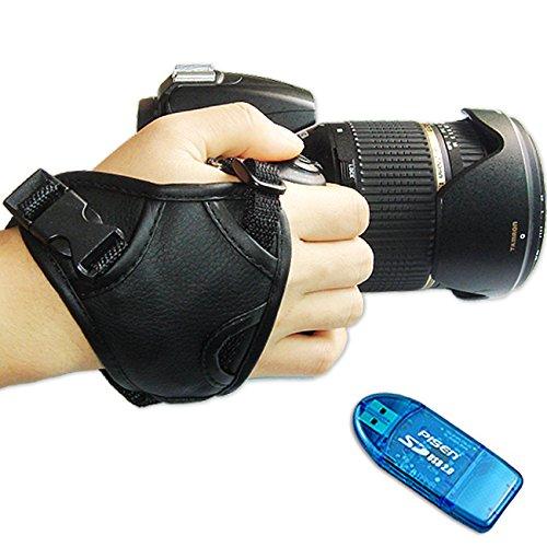 First2savvv OSH0301G10 neue Dreieck Leder DSLR-Kamera Handschlaufe Grip für Canon PowerShot SX50 HS SX500 IS EOS 700D 100D PowerShot SX510 HS SX170 IS SONY SLT-A77VQ A77 DSC-H300 DSC-RX10 SLT-A65V A65 SLT-A55V A55 DSLR-A290Y DSLR-A390L DSLR-A390Y DSLR-A580 DSLR-A580L DSLR-A580Y DSLR-A580 DSLR-A580Q DSLR-A900 DSC-H200 DSLR-A100 OLYMPUS SP-810UZ SZ-30MR SZ-20 SZ-10 SP-610UZ SP-590 UZ SP-570 UZ SP-565 UZ SP-560 UZ SP-550 UZ mit Kartenleser