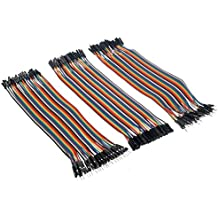 REES52 Breadboard Jumper Cables Kit, Set of 120 (Multicolor)