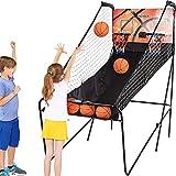 """Ancheer Basketballkorb, Basketballständer für Kinder und Erwachsen,Doppel Basketball Arcade Spiel mit elektronische automatische Score— 80 """"L x 44"""" W x 81.5 """"H"""