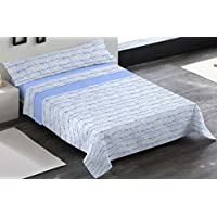 Juego de sábanas JANA MR. Cama 150 cm. Color Azul - Sedalinne