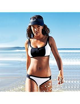 Sunny Dream Señoras puntos reflejan la generación de cómodos bikini swimsuit empaquetados Envolvió Pecho cremallera...