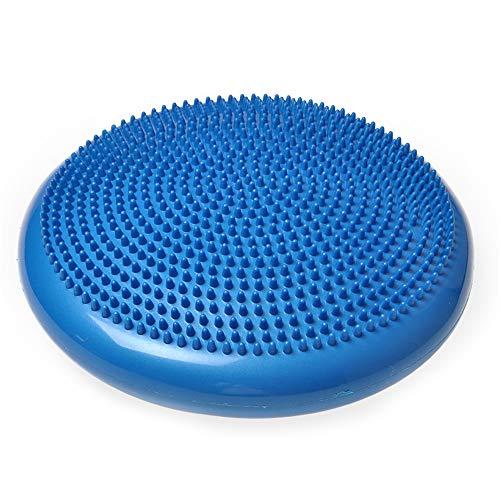Balance Pad (4,5 cm), Yoga-Massagekissen Enthält Free Pump - Spiked, aufblasbare Swing Pad für das Gleichgewichtstraining - Geeignet für Menschen aller Größen,Blue