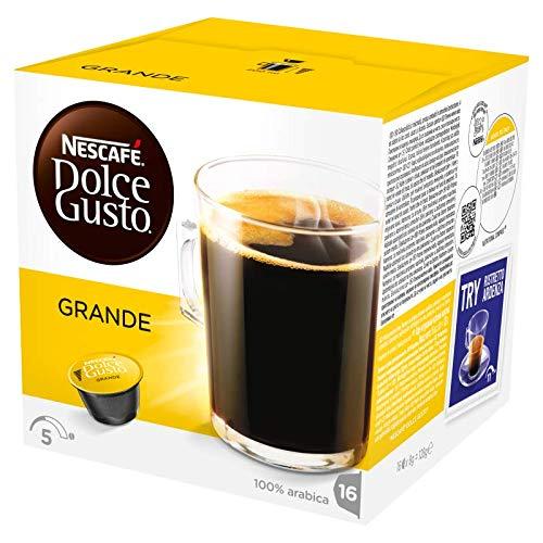 NESCAFÉ Dolce Gusto Grande Kaffee | 48 Kaffeekapseln | 100{ec70e5e29f5ba0a9dd7bc69694d9145e87845c230ee24284a72ab8a558d26bc3} Arabica Bohnen | Feine Crema und kräftiges Aroma  | Schnelle Zubereitung | Aromaversiegelte  Kapseln | 3er Pack (3 x 16 Kapseln)