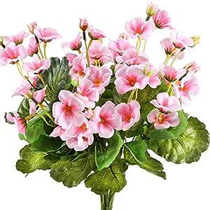 Flores de Seda Artificial de WEFLOW Rosa Begonia Falsa Ramo Floral Interior Al Aire Libre Cocina Casa Caserío Centro de…