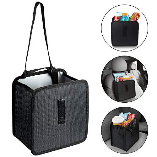Tonsmile - Cubo de Basura para Coche, Reciclado, portátil y Plegable, Organizador de Basura para Proteger tu Coche de Basura