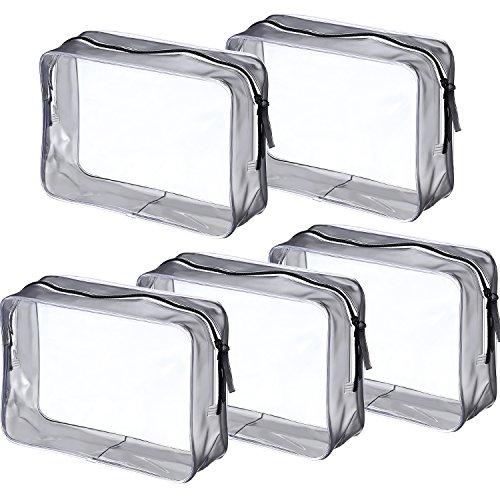5 Piezas Bolsa Aseo Cremallera PVC Bolsa Portátil