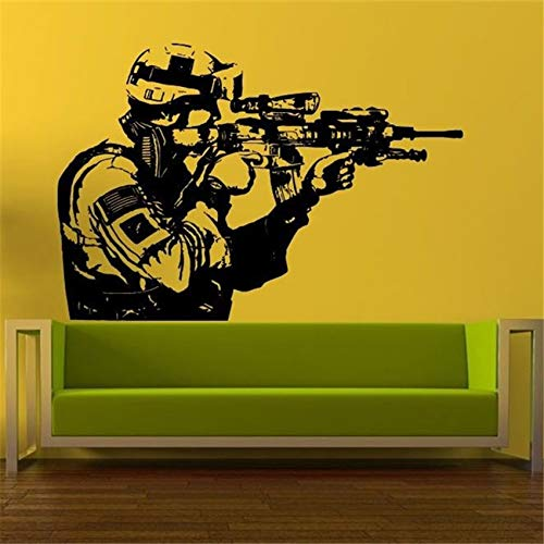 Vinyl Sticker Soldier Men Sniper Home Decor Removable Wall Decal Modern Design Living Room Boy Room Wall Stickers 58 X 85 CM