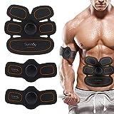 SUNMAY ABS Allenatore EMS stimolatore Muscolare con Cinghie di Supporto, Cintura di tonificazione Addominale, Home Gym Training Gear per Uomini Donne (Istruzioni in Italiano)