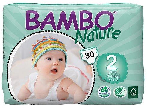 Bambo Nature Mini (3-6 kg) 6 x piezas 30, funda de almohada de pañales