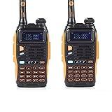 Baofeng GT-3 UHF/VHF Dual Band Funkgerät Two Way Radio Walkie Talkie PMR (2*Radio+1* ProgrammierKabel enthaltend)