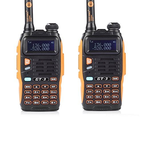 Radio talkie-walkie BaoFeng 3 2 2014 GT-3, bouble bande, UHF/VHF, radio talkie walkie Pmr (1 câble de programmation inclus)
