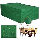 Yahee Wasserdichte Schutzhülle Hülle Abdeckung für Gartenmöbel Bank Tisch 135x135x75cm