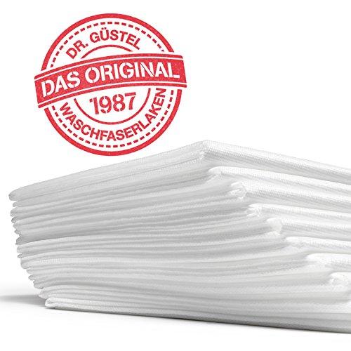 Waschfaserlaken ACTIV (300x waschbar) 10 St.+2 Laken GRATIS (80×210 cm, weiß) Waschvlies / Vlieslaken – OEKO-TEX® geprüft – ORIGINAL Dr. Güstel - 4