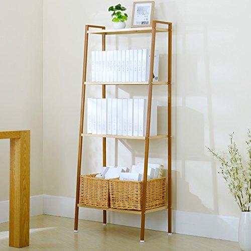 SUBBYE Simplicity Bücherregal Modernes Wohnzimmer Finishing Ablageflächen Mehrstöckige Blumenständer Farbe Optional ( Farbe : Gold )