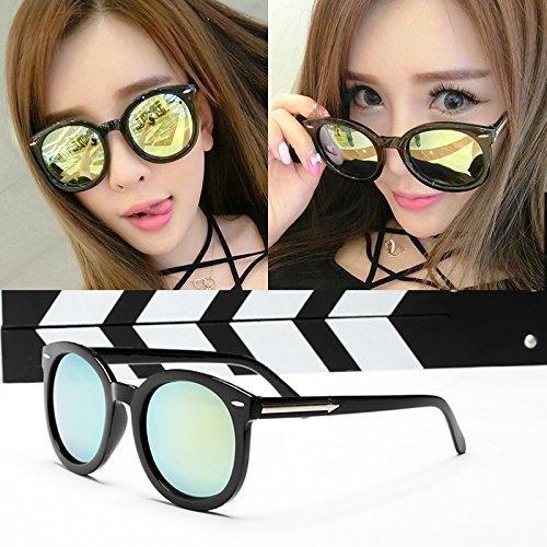 , eleganten neuen persönlichkeit, sonnenbrille, meine sonnenbrille, die flut sterne, brille, rundes gesicht, koreanische retro - augen,glänzende schwarze folie (bag)