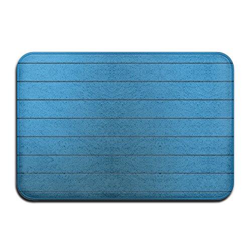 Rayures bleues Tapis de porte extérieure 4060 cm