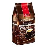 Melitta Ganze Kaffeebohnen, 100 % Arabica, reiches Aroma, intensiv-würziger Geschmack, kräftiger Röstgrad, Stärke 4 bis 5, BellaCrema Espresso, 1000g