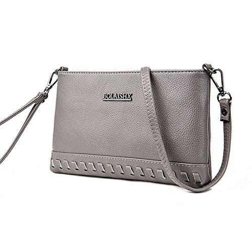 Syknb Lockere Hand - Tasche, Schreiben Tasche, Einheitlichen Schulter Ranzen gray