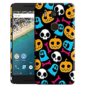 Theskinmantra Pumpkins and skulls back cover for Nexus 5X