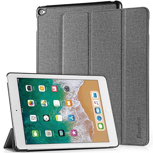 EasyAcc Hülle für iPad Air 2, Ultra Slim Cover Schutzhülle PU Lederhülle mit Standfunktion/Auto Sleep Wake Up Funktion Kompatibel für iPad Air 2 2014 Modell Number A1566/A1567 - Grau (Hülle Air 2 Ipad Cover)