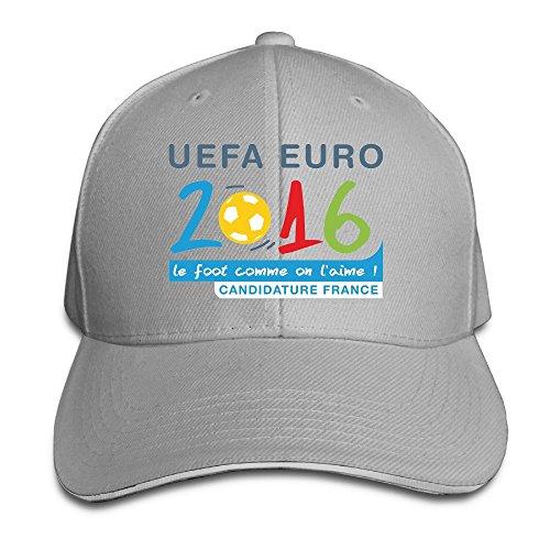 Maneg Euro 2016Logo png Sandwich Peaked Hat & Cap, unisex, asche