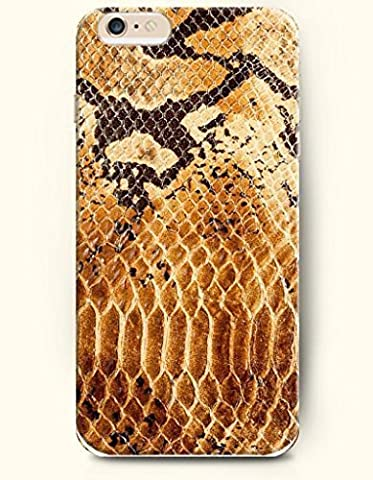 Case Cover For Apple Iphone 6 Plus 5.5 Inch with Design of Yeloow And Black Sexy Serpentine Pattern - Snake Skin Print -...
