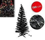 MEDIA WAVE store 272394 Albero di Natale nero in fibra ottica luminose multicolore 150 cm