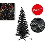 MEDIA WAVE store 272394 Albero di Natale Nero in Fibra Ottica Luminose 150 cm