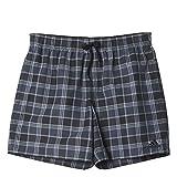 adidas Herren Badeshorts Karierte Shorts, AJ5559, Mehrfarbig (Black/Dark Grey/White)Gr.L