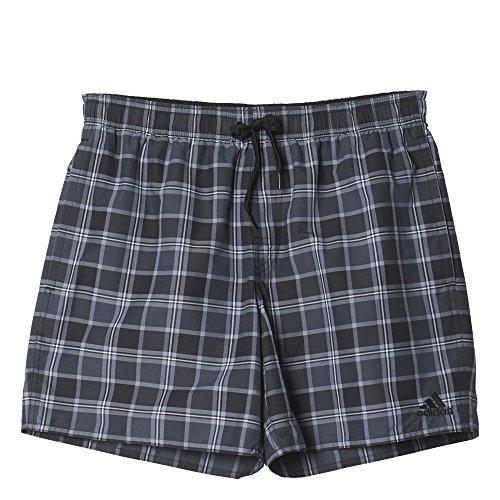 adidas Herren Badeshorts Karierte Shorts, AJ5559, Mehrfarbig (Black/Dark Grey/White)Gr.M Preisvergleich