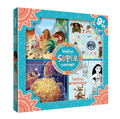 VAIANA - Super coffret - Histoire, coloriages, stickers, puzzle
