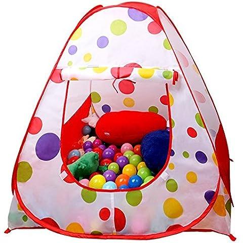 La tienda del juego, EocuSun niños interior y exterior plegado fácil del lunar de la bola del hoyo casa del juego del bebé de la playa Tienda con cremallera bolsa de almacenamiento para los niños