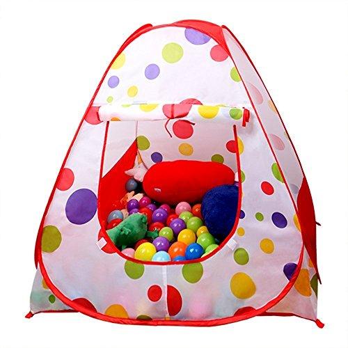 Gioca Tenda, EocuSun bambini interna ed esterna Facile pieghevole Pois sfera Pit Gioca Casa Baby Beach Tenda con zip sacchetto di immagazzinaggio per i bambini