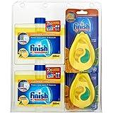 Finish Dishwasher Freshener and Cleaner Clam Pack