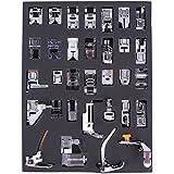 JOYOOO 32pcs doméstica Máquina de coser Presser Foot Kit para BROTHER, BUTTERFLY, SINGER, ACME, JANOME, FY, YOKOYAMA, JUKI, IKEA, etc