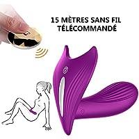 Klitoris Massagegerät Dildo Vibrator Weitgehend Vibratoren für sie Klitoris und G-punkt Frauen mit Kabellos Fernbedienung 100% wasserdichte vibrierendes Wasserdicht (lila)