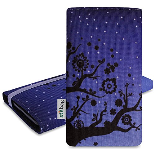 Stilbag Etui 'MIKA' pour Apple iPhone 7 plus - Dessin: Velvet Night Velvet Night