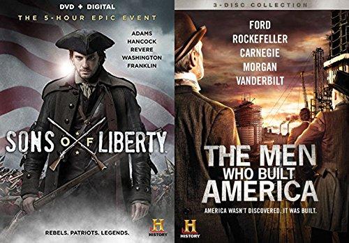 Bild von The Men Who Built America Documentary DVD & Sons of Liberty [DVD + Digital Ultraviolet] History Channel Set