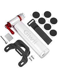 giwil cartucho de CO2–Bomba Rápida y fácilmente con el Pro Bike Tool inflador–Presta y Schrader Válvula compatible. Bomba de aire para bicicletas de carretera y bicicletas de montaña–Metal almacenamiento Depósito–No incluye cartuchos Co2
