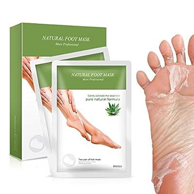 APRITECH® Exfoliating Peel Foot Sock Mask, Peeling Away Dry Dead Skin, Callus Removerin Just a Week!!! -2 Pair Foot Soaks Socks
