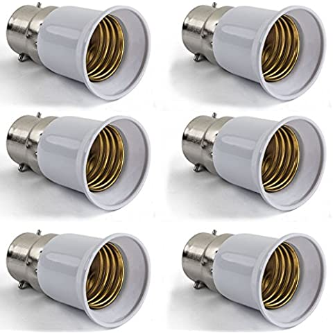 AWE-LIGHT 6X B22 a E27 estendere Base LED CFL lampadina dell'adattatore della lampada convertitore Vite Presa