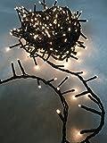 Lumineo Kompakte Weihnachtsbaum-Lichterkette, für Innen-/Außenbereich, Warm White - Green Wire, 750 LEDs (16m)