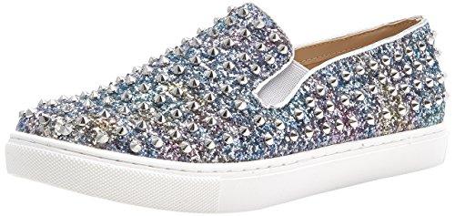 Steve Madden Damen Emmmaa-s Sneakers, Silber (Argento), 38 EU (Schuhe Slip On Steve Madden)