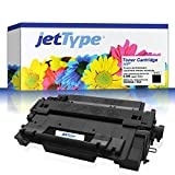 jetType Toner ersetzt HP CE255A / 55A für LaserJet P3015 / P3015DN / PRO M521DN / Enterprise P3015DN / P3015X / Enterprise 500 MFP M525DN, schwarz, 6.000 Seiten