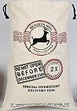 Vintage Decor (TM), sacco in cotone con coulisse per giocattoli e regali con un motivo raffigurante una renna di Babbo Natale
