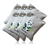 Miji Air Purifying Bag, Bamboo Charcoal Bag Deodorizer Fresh Air Moisture Absorption, Air Purifier for Cars, Closets, Bathrooms and Pet Areas Absorption (6 Pcs)